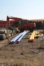 Itzehoe/131803/teil-des-baustellenlagers-der-firma-pohl Teil des Baustellenlagers der Firma Pohl auf Alsen 02.04.2011