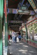 Peking/130759/wandelgang-mit-wunderschoenen-malereien-im-garten Wandelgang mit wunderschönen Malereien im Garten des Sommerpalastes in Peking 11.10.2010